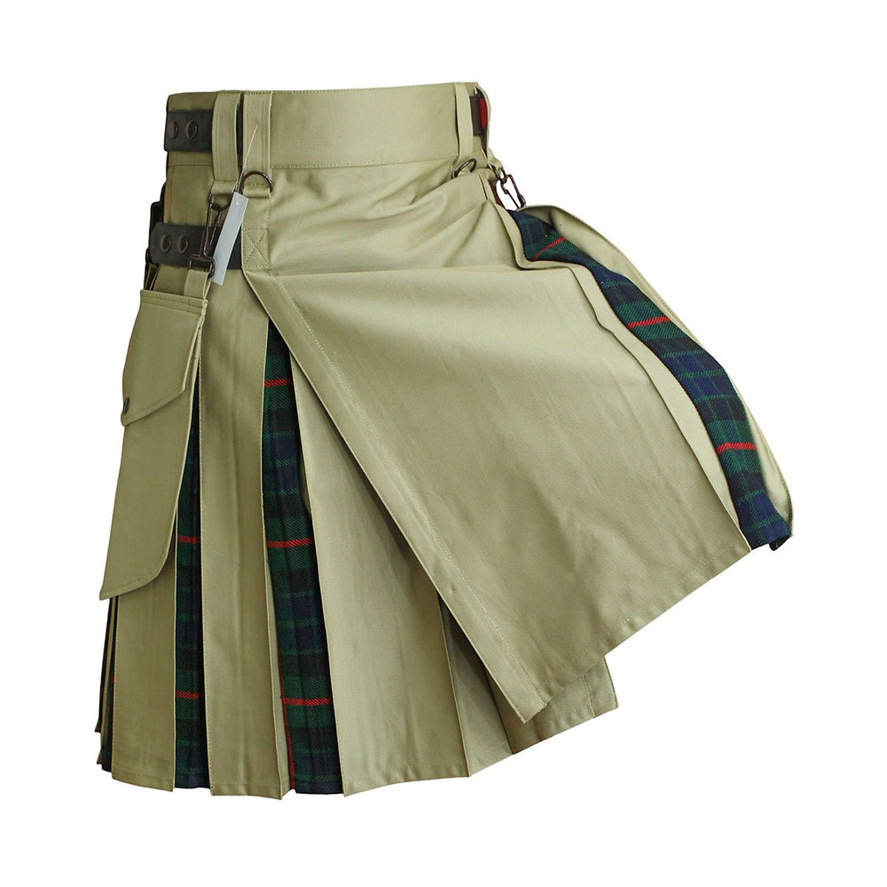 house-of-scotland-heavy-cotton-hybrid-kilt-khaki-color-with-gunn-tartan