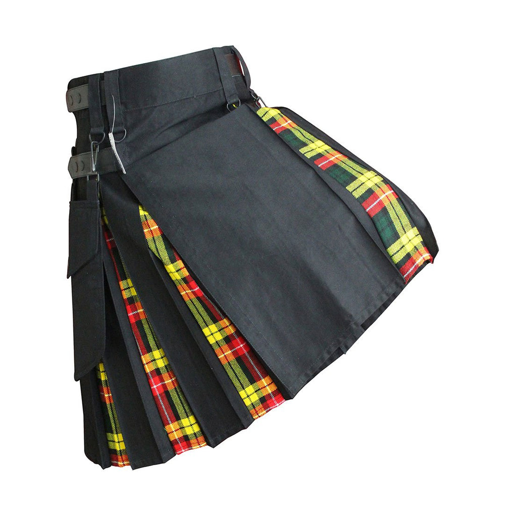 house-of-scotland-heavy-cotton-hybrid-kilt-black-color-with-buchanan-tartan