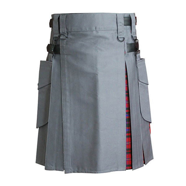 house-of-scotland-heavy-cotton-hybrid-kilt-grey-color-with-macdougall-tartan-front