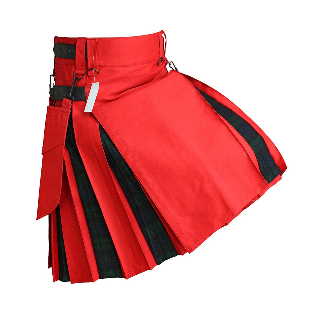 house-of-scotland-heavy-cotton-hybrid-kilt-red-color-with-black-watch-tartan
