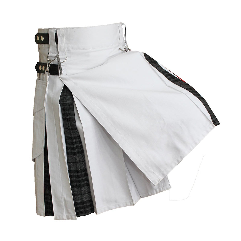house-of-scotland-heavy-cotton-hybrid-kilt-white-color-with-grey-watch-tartan