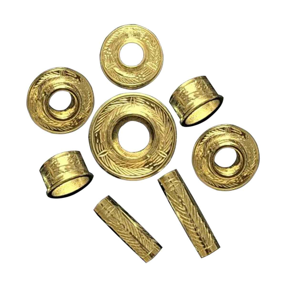 Highland Bagpipe Fittings Fully Thistle Engraved Gold Plated