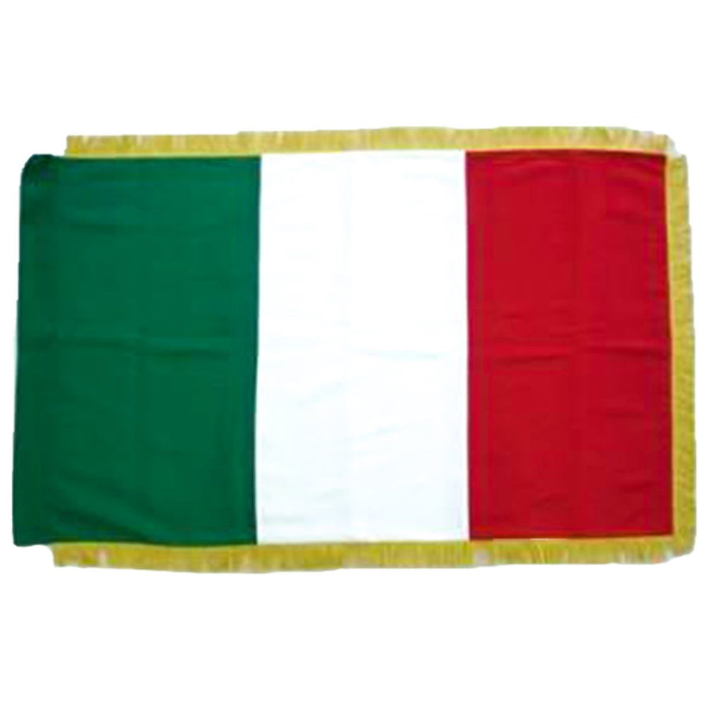 Italy Full Size Double Sided Hand Embroidered Flag