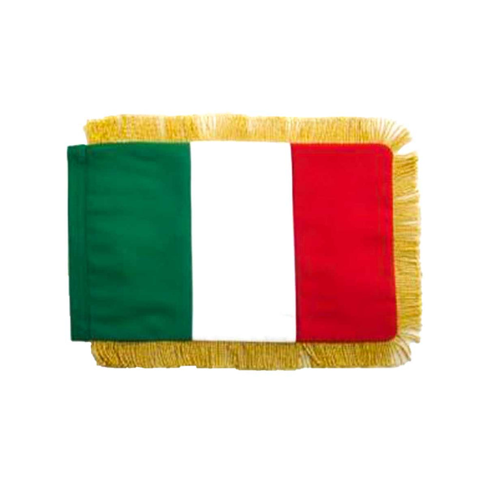 Italy Table Size Double Sided Hand Embroidered Flag