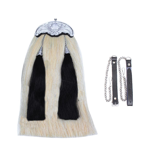 house-of-scotland-original-horse-hair-sporran-white-color-body-with-2-black-tassels-embossed-cantel