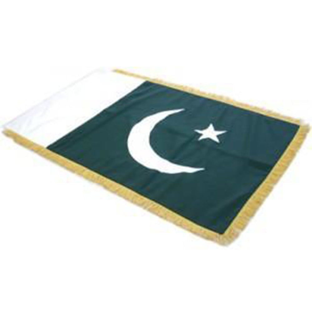 Pakistan Full Size Double Sided Hand Embroidered Flag