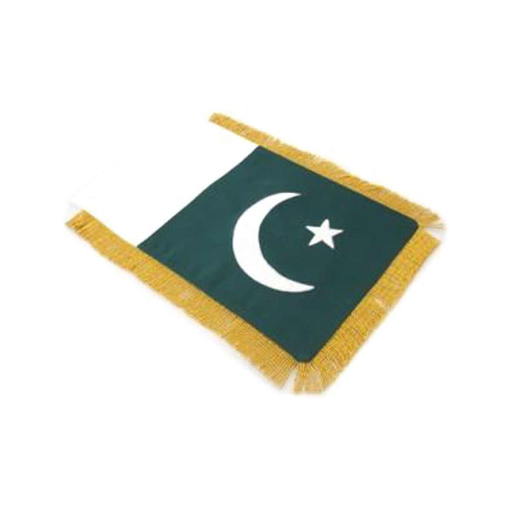 Pakistan Table Size Double Sided Hand Embroidered Flag