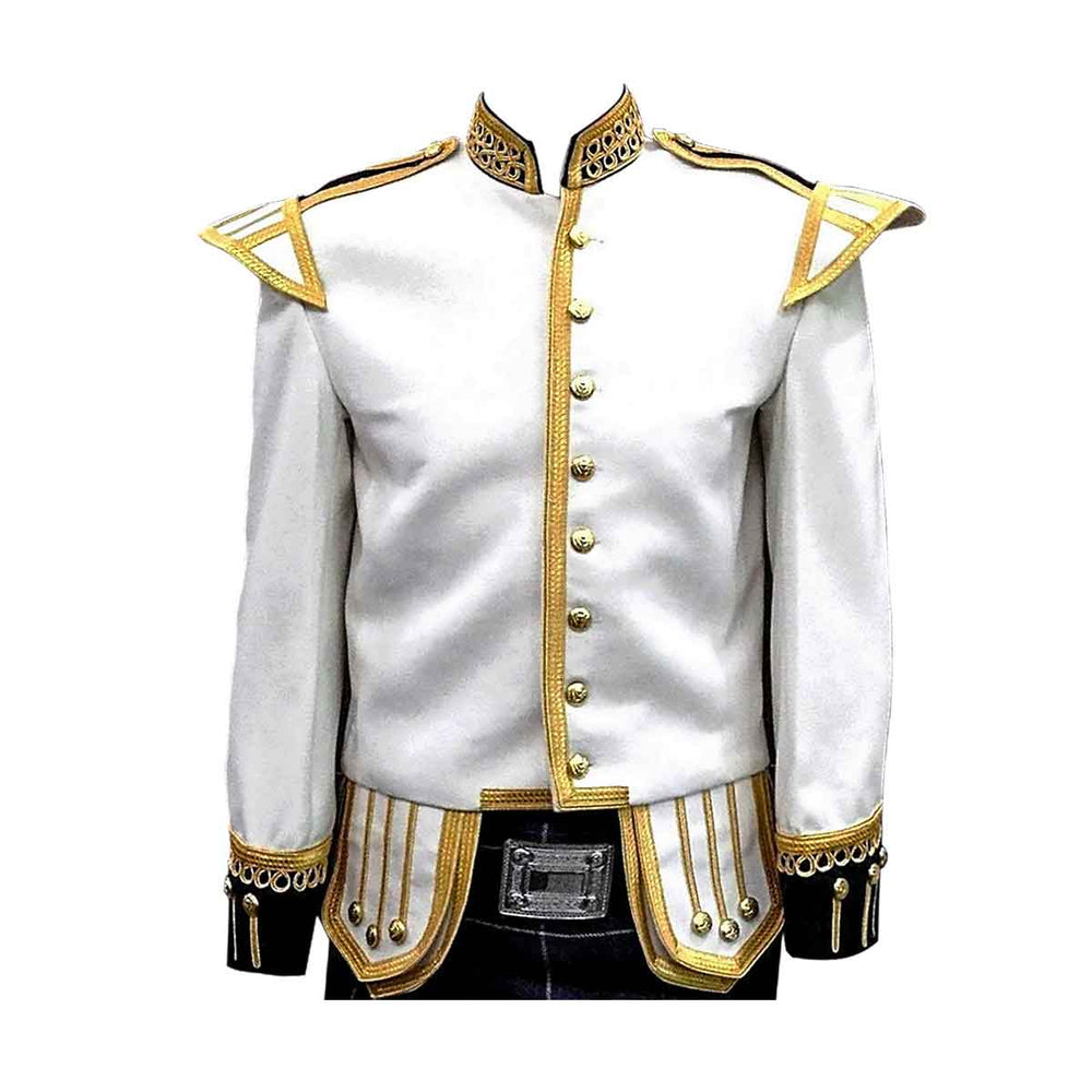 White Doublet Fancy With Gold Braid And Trim