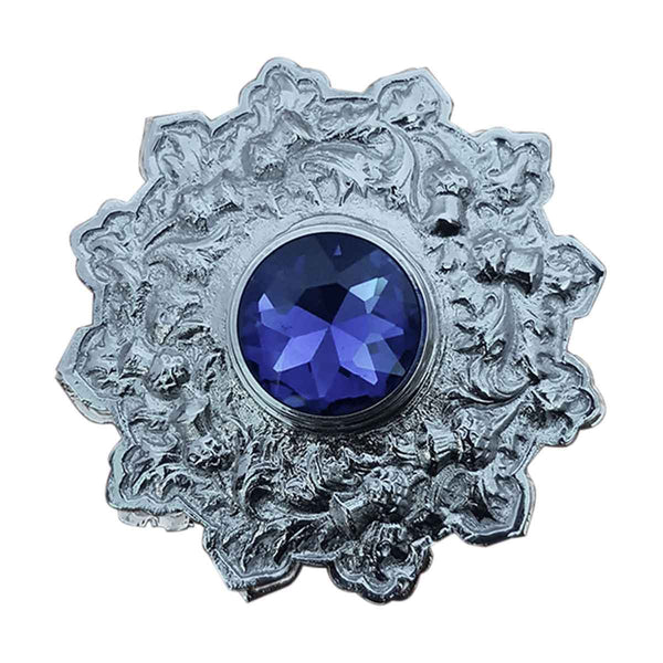 Plaid Brooch Blue Stone Star Style - House Of Scotland