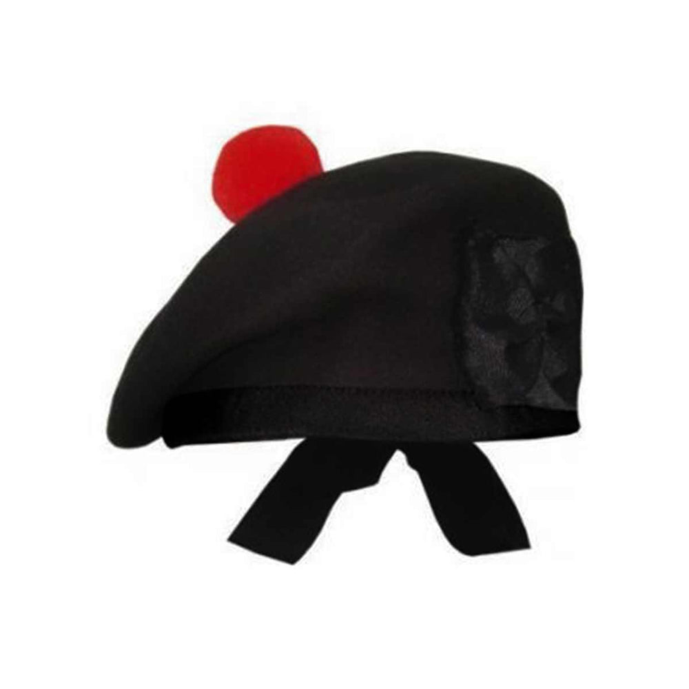 Plain Black Balmoral Cap