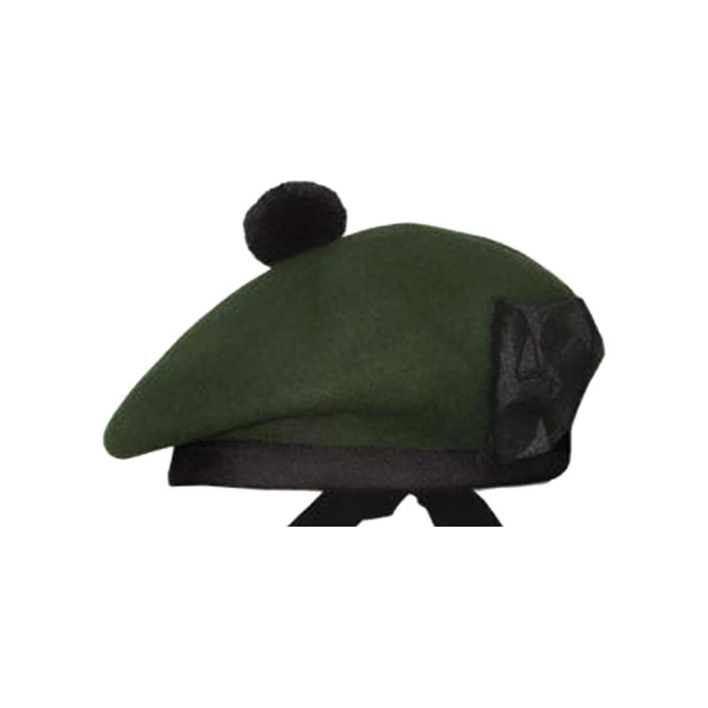 Plain Balmoral Cap Dark Green Color