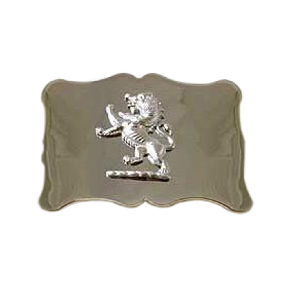 Plain Lion Rampant Badge Buckle