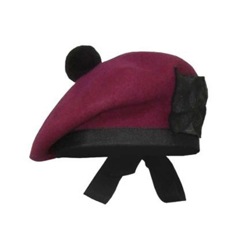 Plain Balmoral Cap Maroon Color