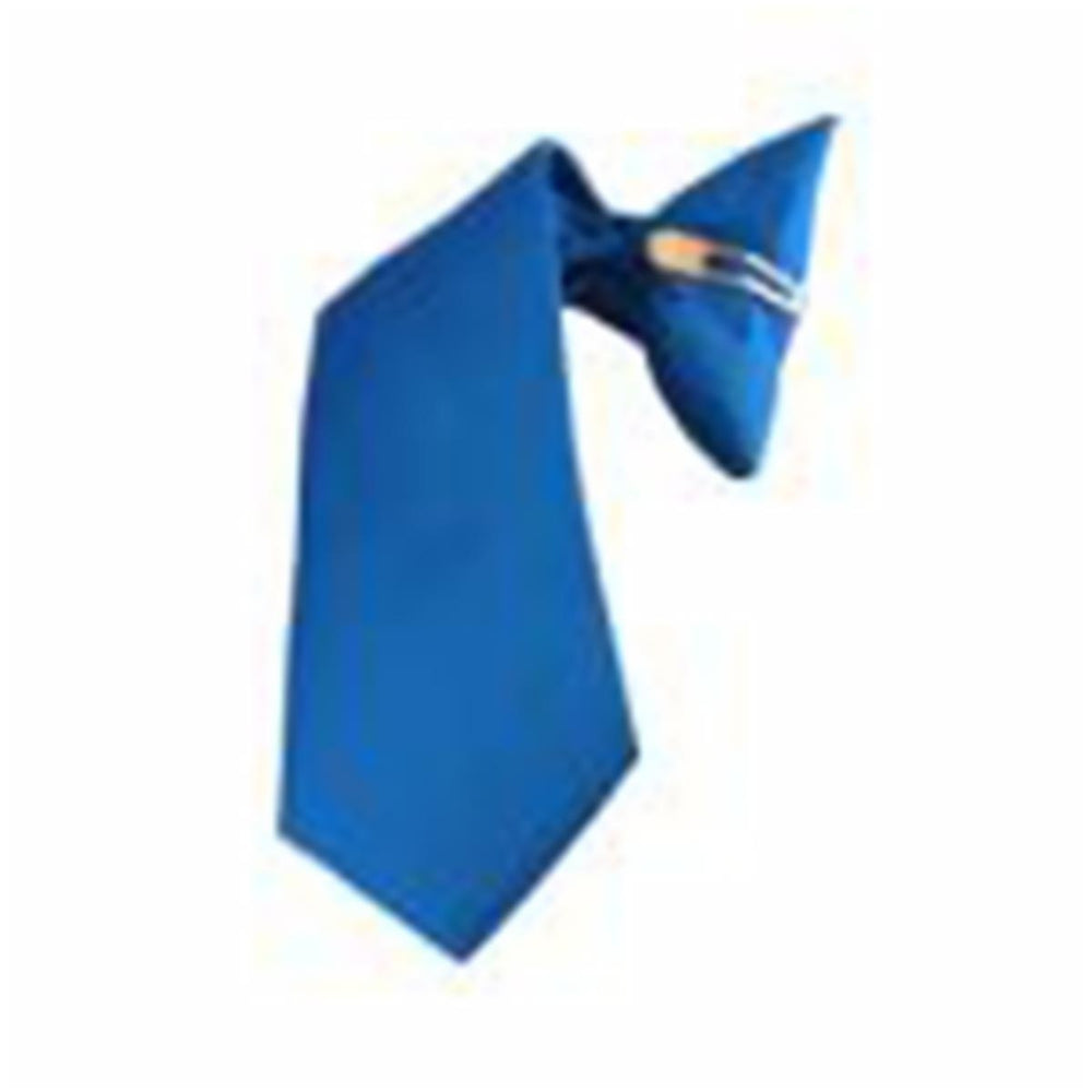 Plain Royal Blue Clip-on Neck Tie