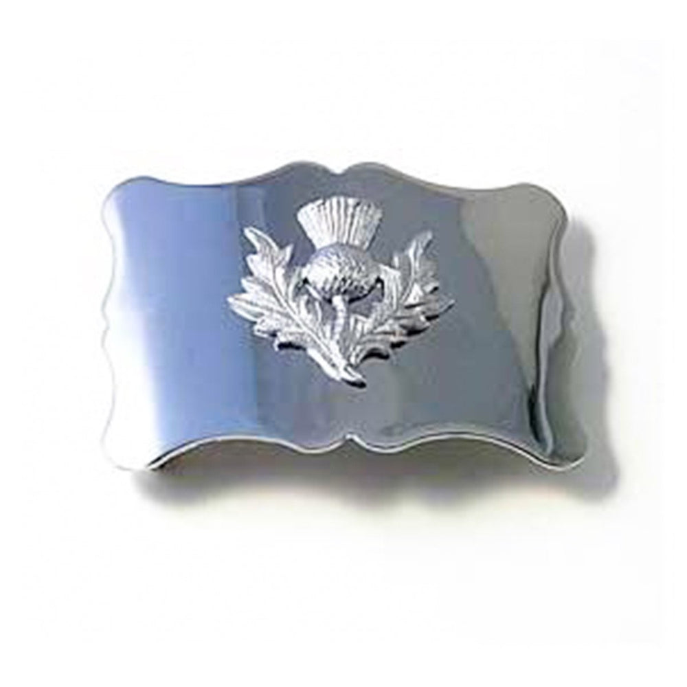 Plain Thistle Flower Waist Belt Buckle