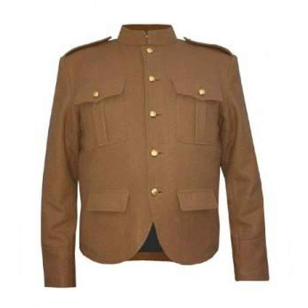 Police Jacket Tan Blazer Wool - House Of Scotland