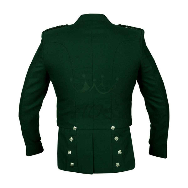Prince Charlie Jacket With Vest Green Color - House Of Scotland
