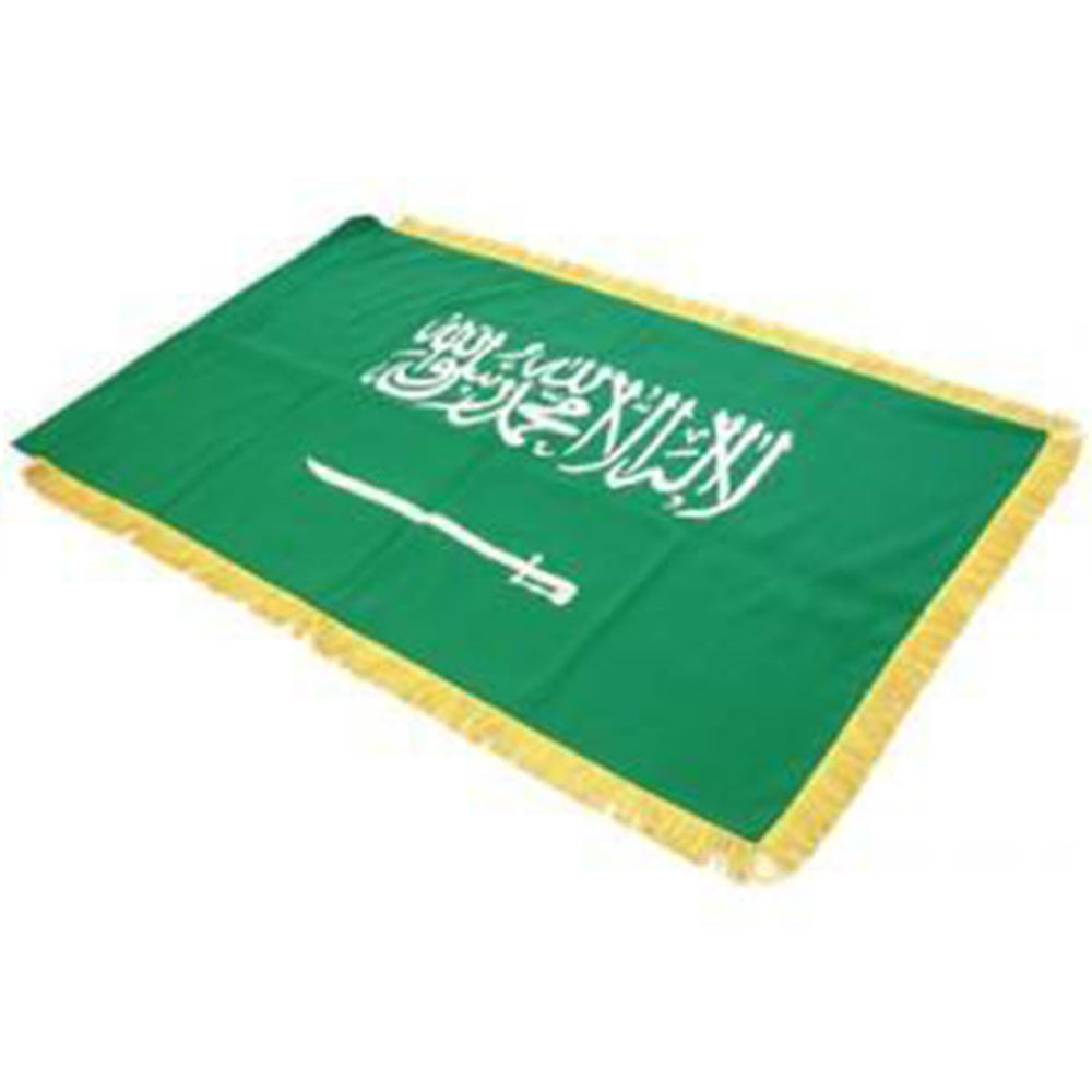 Saudi Arabia Full Size Double Sided Hand Embroidered Flag