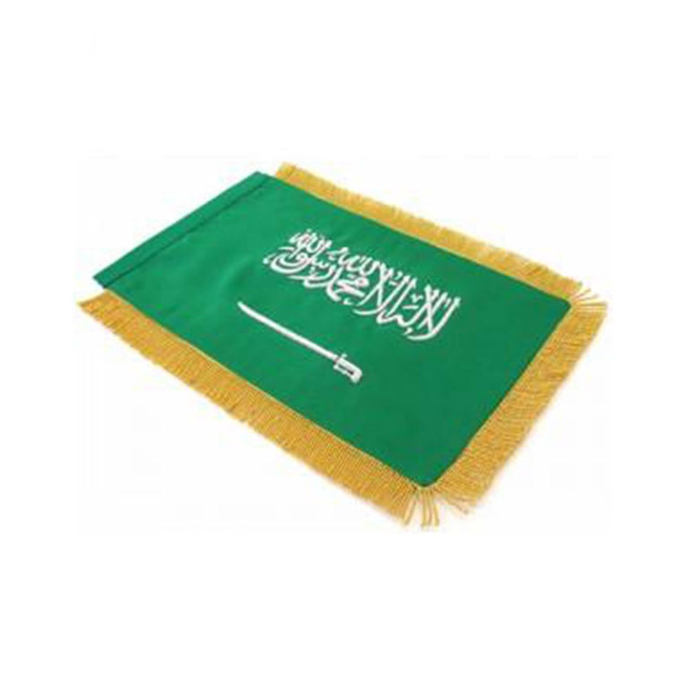 Saudi Arabia Table Size Double Sided Hand Embroidered Flag