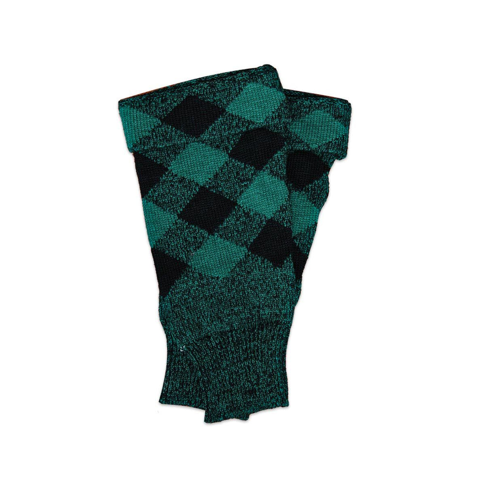 Acrylic Wool Scottish Hose Top Diced Black And Green