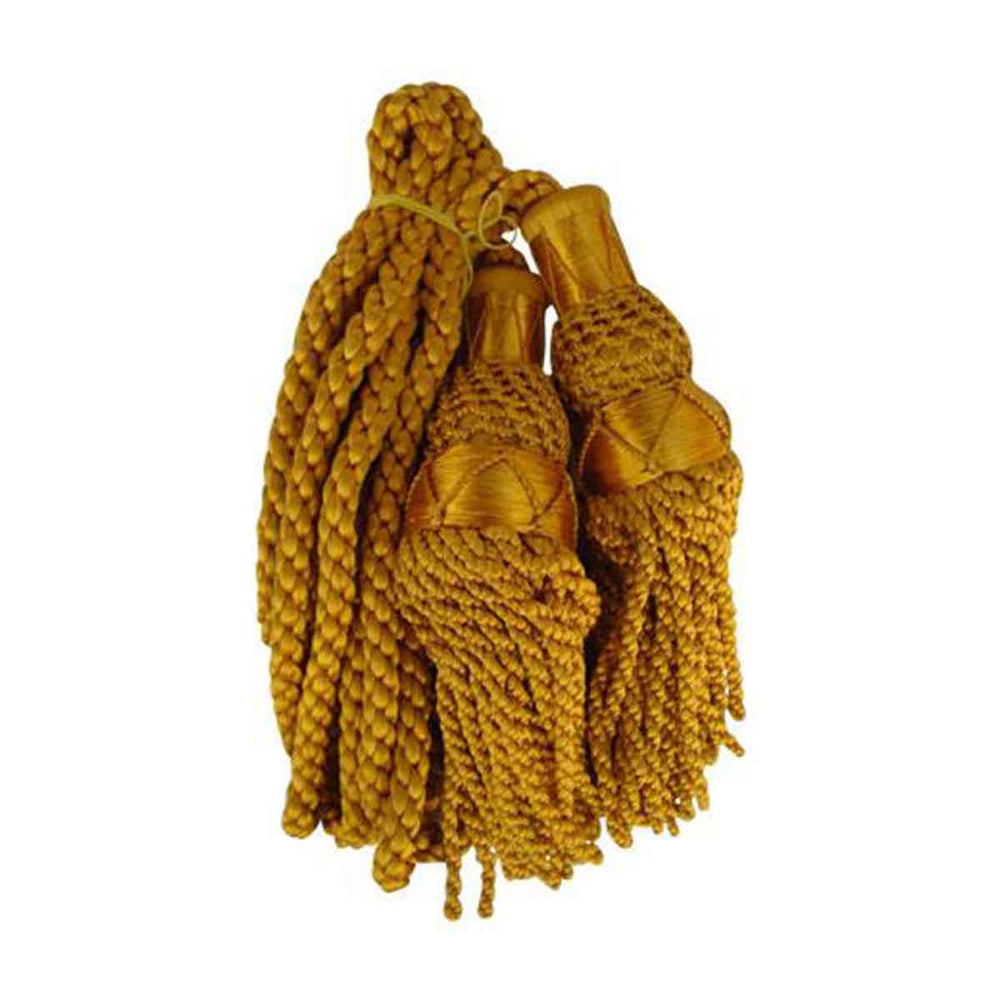 Bagpipe Cords Gold Silk
