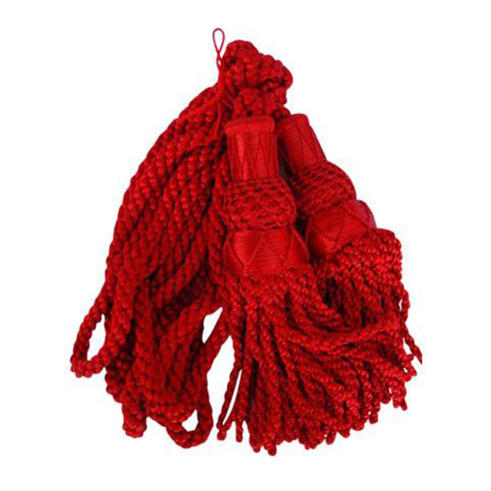Bagpipe Cords Red Silk