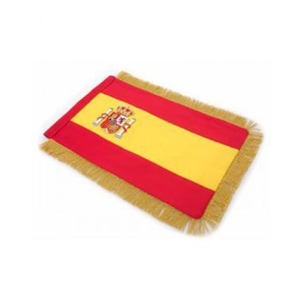 Spain Table Size Double Sided Hand Embroidered Flag