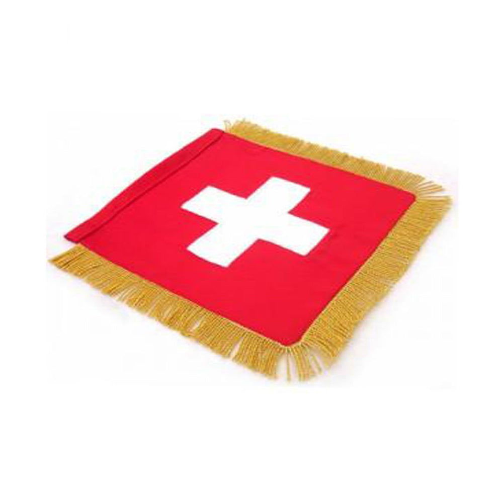 Switzerland Table Size Double Sided Hand Embroidered Flag