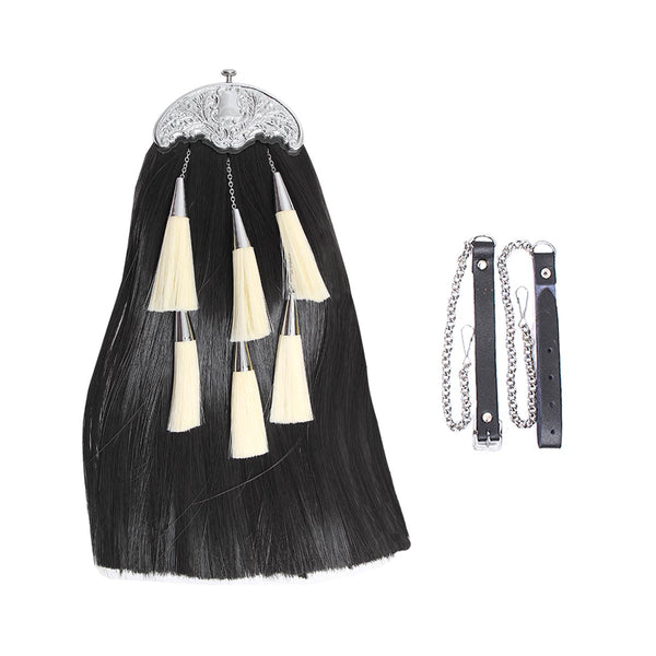 house-of-scotland-synthetic-long-hair-sporran-black-color-body-with-5-white-tassels