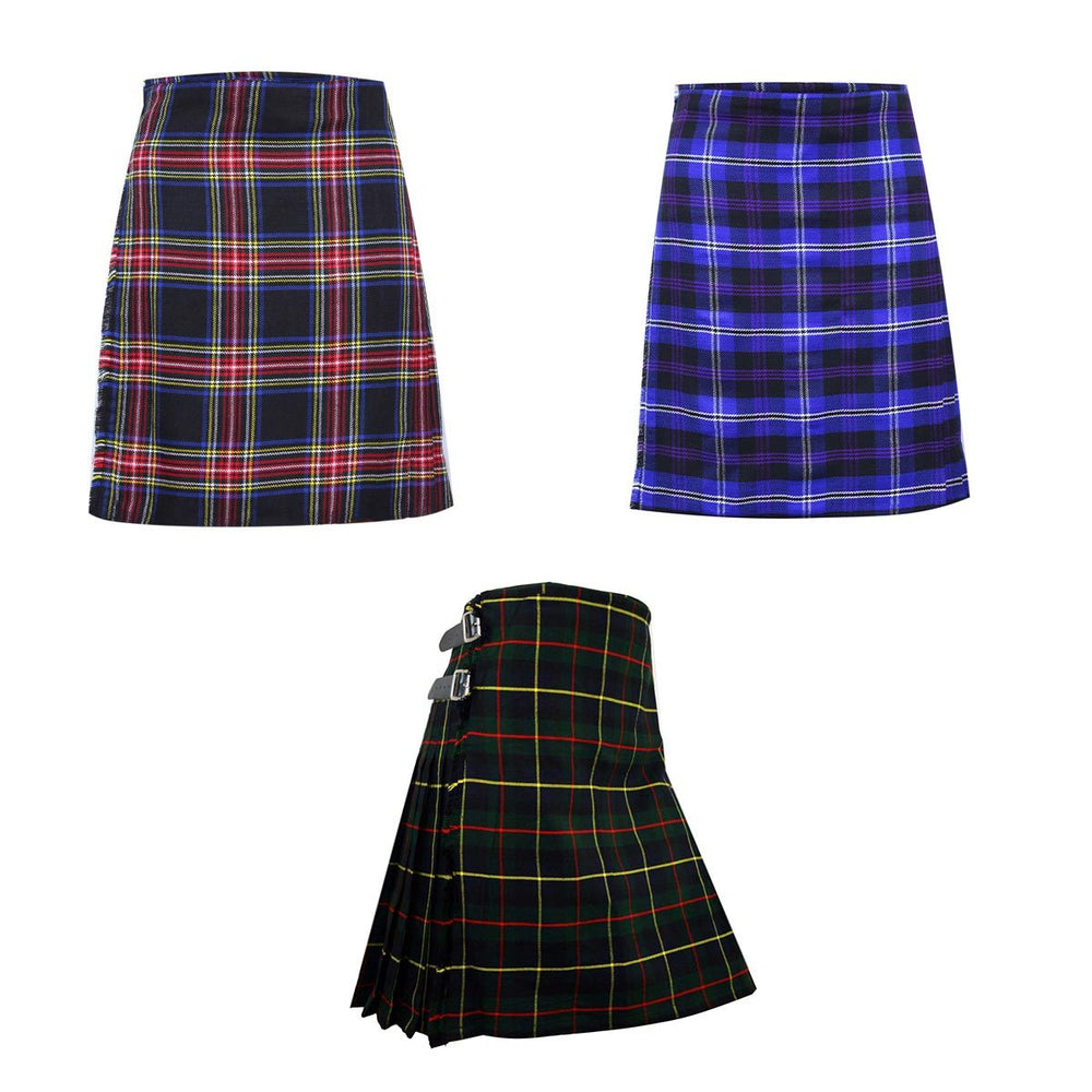 Acrylic Wool Men Scottish Tartan Kilt