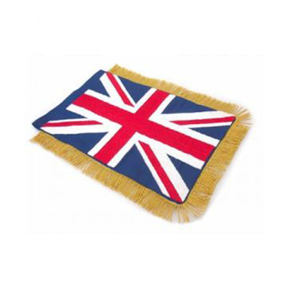 United Kingdom Table Size Double Sided Hand Embroidered Flag