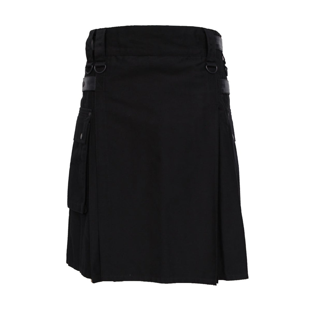 Utility Kilt With Leather Straps