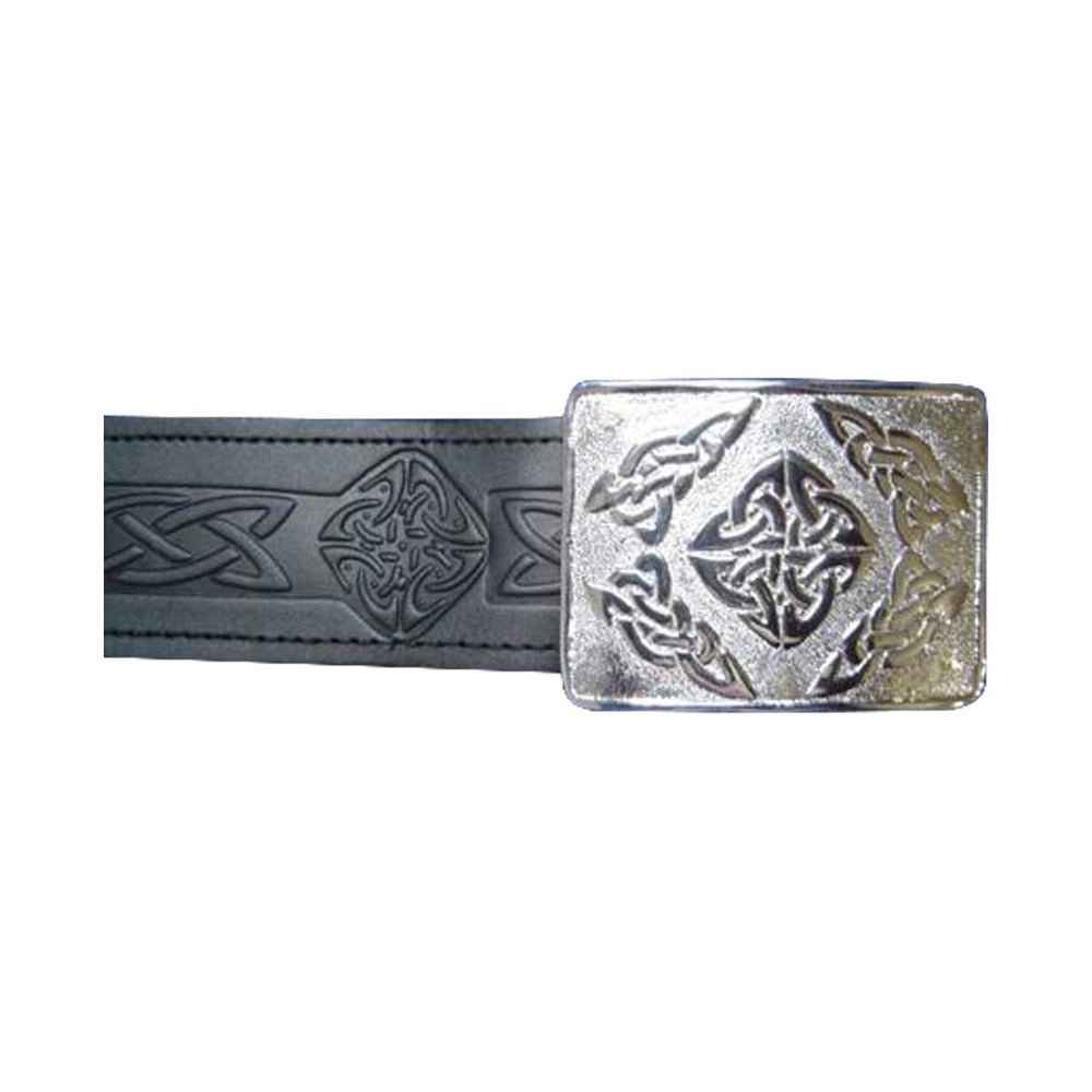 Velcro Adjustable Celtic Design Kilt Waist Belt With Buckle
