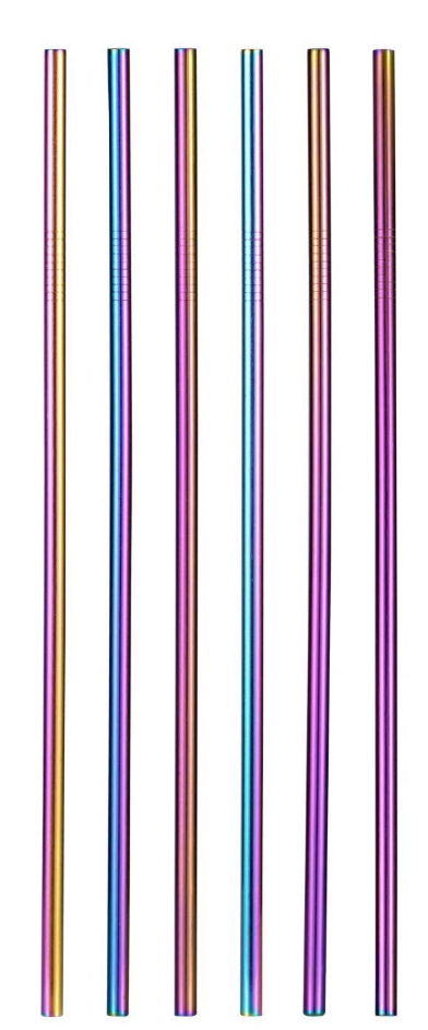 X-Long Iridescent Replacement Straws