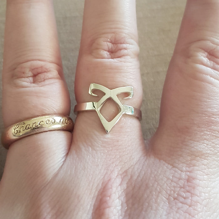 Angelic Rune Sterling Silver handmade Ring