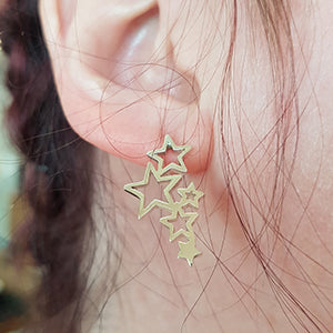 Star Galaxy Stud Earrings