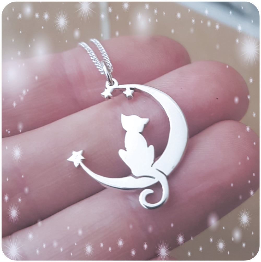 Lunar Kitty Pendant on Chain