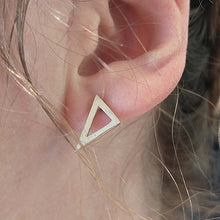 Load image into Gallery viewer, Scalene Triangle Stud Earrings