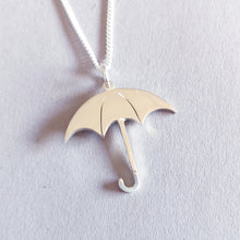 Load image into Gallery viewer, Umbrella Sterling Silver Handmade Pendant