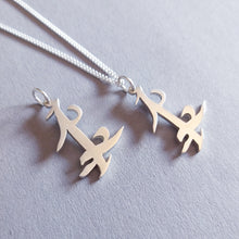 Load image into Gallery viewer, Sterling Silver Parabatai Rune Pendant Set