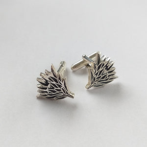 Men's Sterling Silver and Resin Protea Cufflinks