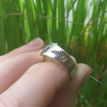 Load image into Gallery viewer, Sterling Silver Foldover Ring