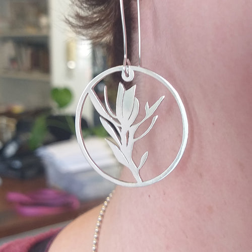 Fynbos Protea Sterling Silver Earrings