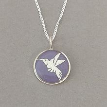 Load image into Gallery viewer, Hummingbird Sterling Silver Resin Pendant
