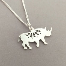 Load image into Gallery viewer, Lacy Rhino Sterling Silver Handmade Pendant