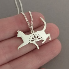 Load image into Gallery viewer, Lacy Kitty Sterling Silver Handmade Pendant