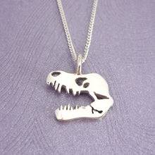 Load image into Gallery viewer, Sterling Silver TREX Skull Pendant