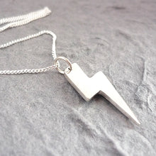 Load image into Gallery viewer, Sterling Silver Lightning Bolt Handmade Pendant