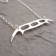 Load image into Gallery viewer, Sterling Silver Handmade Bat'leth Weapon Pendant