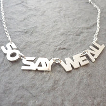 Load image into Gallery viewer, So Say We All BSG-Inspired Handmade Sterling Silver Necklace